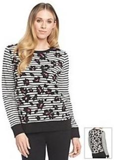 Jones New York Sport® Stripe And Floral Sweatshirt