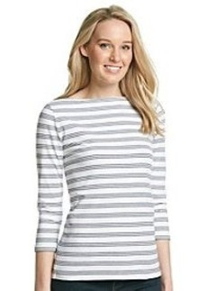 Jones New York Sport® Stripe Boatneck Top