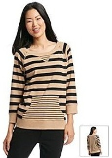 Jones New York Sport® Striped Knit Raglan Pullover Top