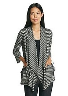 Jones New York Sport® Striped Open Cardigan
