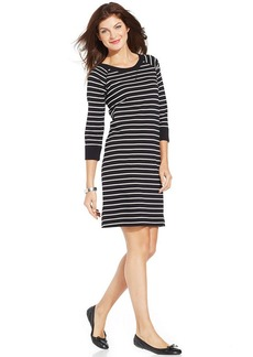 Jones New York Sport Striped T-Shirt Dress