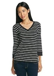 Jones New York Sport® Striped V-Neck Knit Top