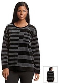 Jones New York Sport® Striped Velour Sweatshirt