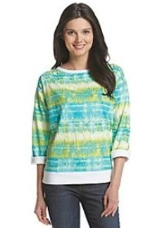 Jones New York Sport® Tie Dye Pullover Top