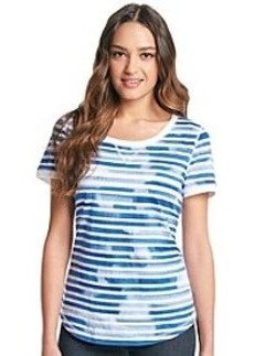 Jones New York Sport® Tie Dye Stripe Slub Tee