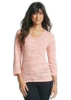 Jones New York Sport® V-Neck High-Low Jersey Knit