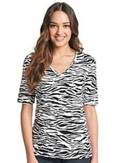 Jones New York Sport® Zebra Print Elbow Knit