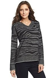 Jones New York Sport® Zebra Print Raw Edge Knit Top