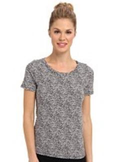 Jones New York S/S Printed Scoop Neck T-Shirt