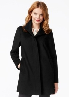 Jones New York Stand-Collar Herringbone Coat