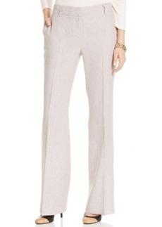 Jones New York Straight-Leg Linen-Blend Trousers
