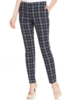 Jones New York Straight-Leg Plaid Pants