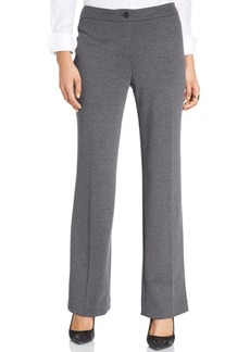 Jones New York Straight-Leg Ponte-Knt Pants