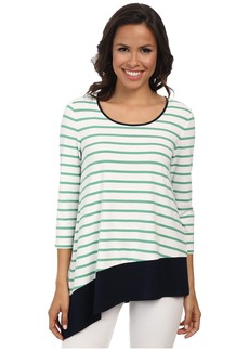 Jones New York Stripe Asymmetric Top