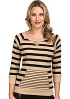 Jones New York Stripe Raglan Sleeve Pullover
