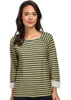 Jones New York Stripe Scoop Neck Pullover w/ Studs