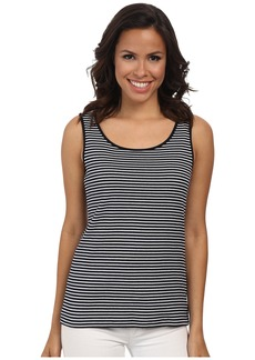 Jones New York Stripe Scoop Neck Tank Top