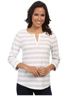 Jones New York Stripe Split Neck Top