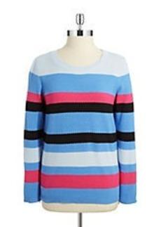 JONES NEW YORK Striped Knit Sweater