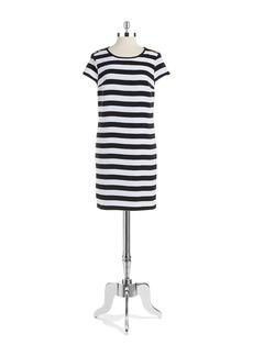 JONES NEW YORK Striped Shift Dress