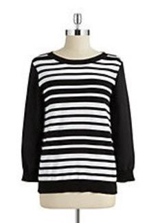 JONES NEW YORK Striped Sweater