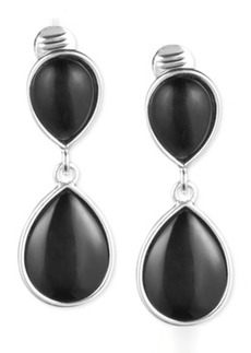 Jones New York Teardrop Stone Double Drop Clip-On Earrings