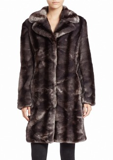 JONES NEW YORK Textural Faux-Fur Coat