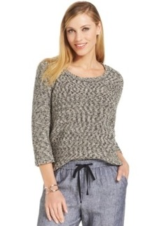Jones New York Three-Quarter Sleeve Dropped Shoulder Sweater