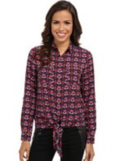 Jones New York Tie Front Blouse