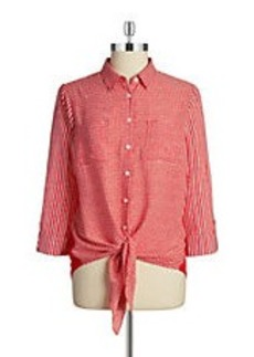 JONES NEW YORK Tie-Front Blouse