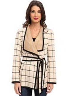 Jones New York Tie Waist Wrap Jacket