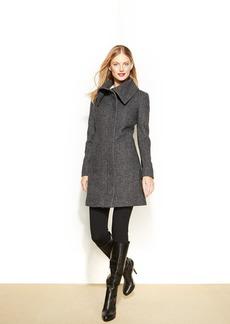 Jones New York Tweed Walker Coat