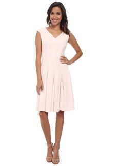 Jones New York V-Neck Cap Sleeve Fit & Flare Dress