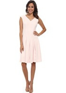 Jones New York V-Neck Cap Sleeve Fit & Flare Dress