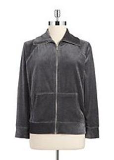 JONES NEW YORK Velour Sweatshirt