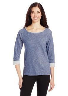 Jones New York Women's 3/4 Roll Sleeve Raglan Scoop Neck T-Shirt
