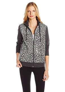 Jones New York Women's Petite Animal Print Mock Neck Jacket