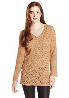 Jones New York Women's Asymmetric V-Neck Sweater