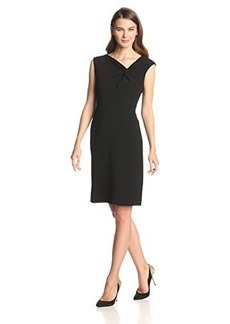 Jones New York Women's Asymmetrical Twist Front Sheath Dress