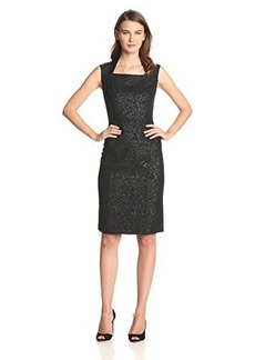 Jones New York Women's Bonded Lace Cap Sleeve Dress