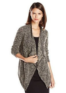 Jones New York Women's Boucle Drape Front Cardigan