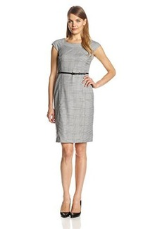Jones New York Women's Brook Glen Plaid Stretch Dress