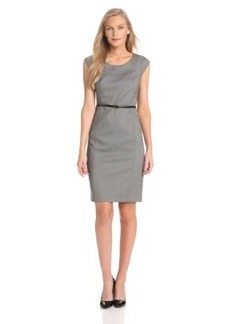 Jones New York Women's Brooke Birdseye Cap-Sleeve Dress