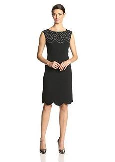 Jones New York Women's Cap-Sleeve Embellished Sheath Dress