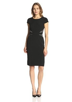 Jones New York Women's Cap-Sleeve Print-Detail Dress
