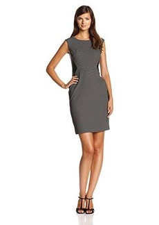 Jones New York Women's Cap Sleeve Sheath Dress