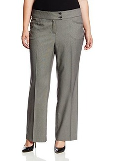 Jones New York Women's Charlotte Solid Seasonless Stretch 2 Button Pant