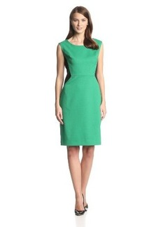 Jones New York Women's Color-Block Side-Panel Pique Sheath Dress