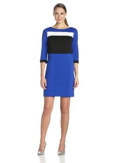 Jones New York Women's Color Blocked Dress