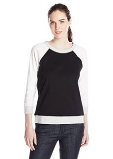 Jones New York Women's Colorblocked Raglan Pullover